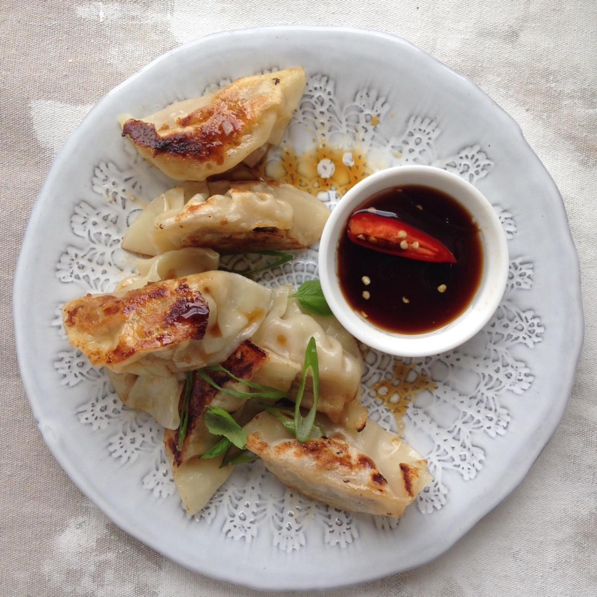 pork dumplings fried